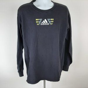 Adidas Men's Long Sleeve T-shirt Size XL Black QB2